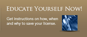 Get instructions on how, when and why to save your license.